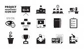 Project Management Icon. Work Planning Office Managers Productivity Team Manage Business Processes V poster