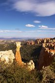 The well-known figure of a natural origin -  symbol a Bryce-canyon poster
