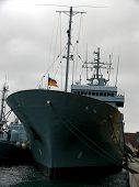 stock photo of labo  - portrait of german navy ship in ocean - JPG