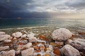 foto of thunderhead  - Winter on the Dead Sea - JPG