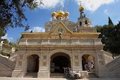 picture of church mary magdalene  - Church of Mary Magdalene in Jerusalem - JPG