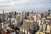 Buenos Aires Central Business District (microcentro, Barrio San Nicolás, La City) Skyscrapers Skylin poster