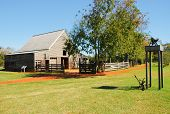 stock photo of jimmy  - Jimmy Carter National Historic Site  farm building - JPG
