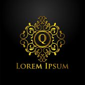 Luxury Logo, Letter Q Logo, Classic And Elegant Logo Designs For Industry And Business, Interior Log poster