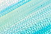 Abstract Brushed Cyan Hand Painted Acrylic Background, Creative Abstract Hand Painted Background, Cl poster