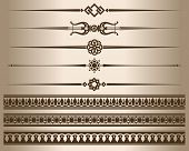 Decorative Elements. Design Elements - Decorative Line Dividers And Ornaments. Vector Illustration.  poster