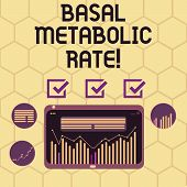 Conceptual Hand Writing Showing Basal Metabolic Rate. Business Photo Text Minimum Energy Level Requi poster