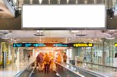 Beauty Full Blank Advertising Billboard At Airport Background Large Lcd Advertisement poster