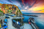 Admirable Travel Destination, Wonderful Mediterranean Village With Traditional Colorful Old Houses A poster