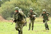 KOSTROMA REGION - AUGUST 26: Paratroopers-saboteurs on the Command post exercises with 98th Guards A