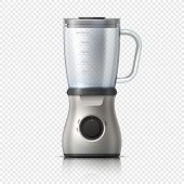 Blender. Empty Juicer Or Food Mixer. Isolated Kitchen Electric Appliance. Realistic Vector Illustrat poster