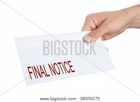 Hand Giving An Envelope
