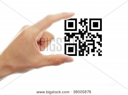 Concept With Qr Code