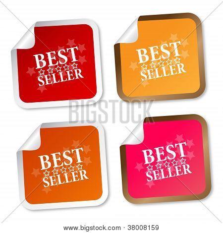 besten Verkäufer Aufkleber