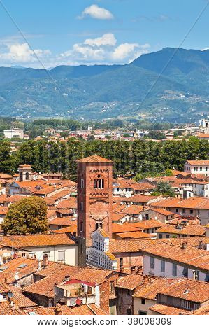 View Over Lucca, Tuscany Town