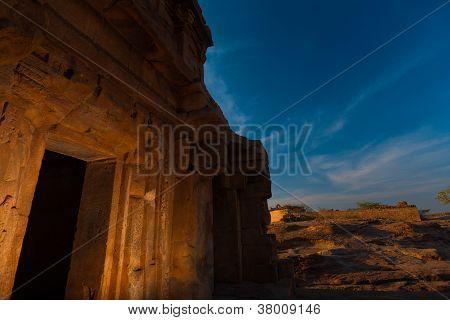 Malegitti Shivalaya Temple Entrance Day Badami