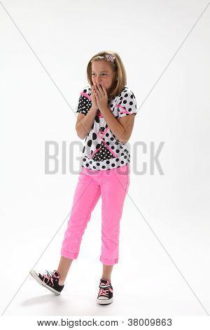 Surprised Ten Year Old Girl