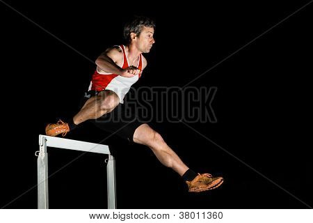 sprinter in hurdles