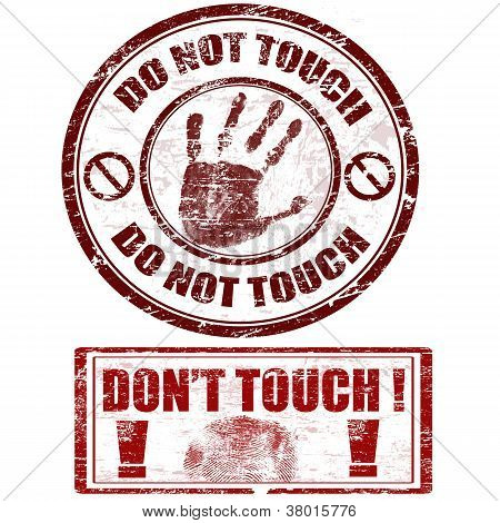 Do Not Touch Stamps
