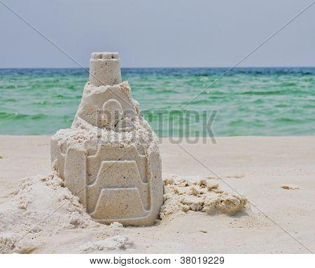 A Sandcastle on a Florida Beach