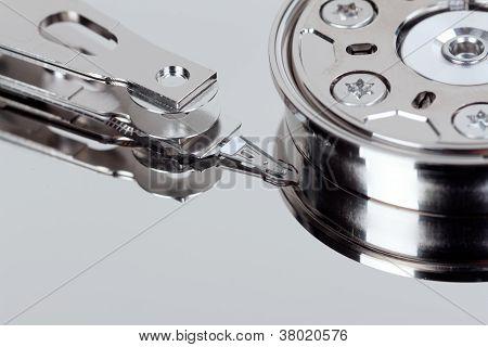 Nahaufnahme von offenen Festplatte