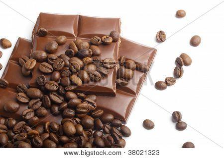 Chocolate And Coffee Beans Corner