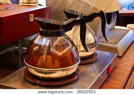 Hot Tea Mug in a Pantry