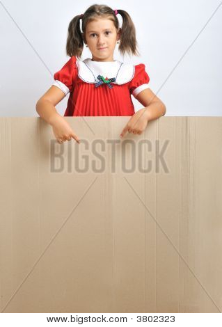 Little Girl And Cardboard