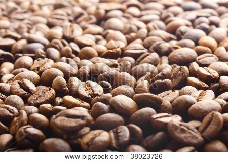 Coffee Beans As Drink Background