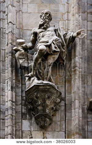 A Statue In The Front Of Duomo