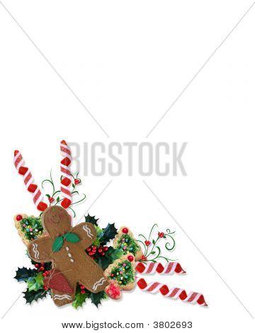 Ecke Weihnachtsgebäck und Leckereien
