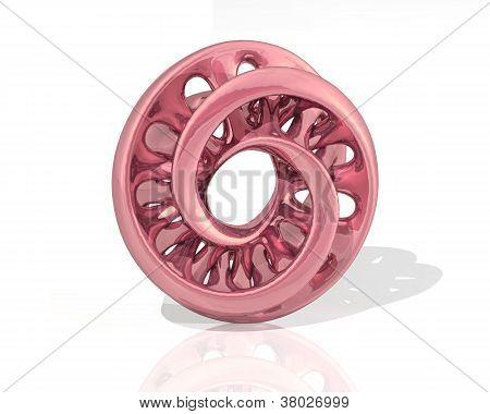 Virtual Sculpture Moebius Glossy Pink Metal
