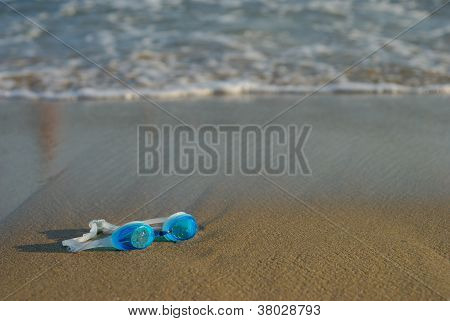Swimming Glasses On The Beach