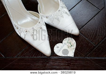 Bride Shoes And Six Pence