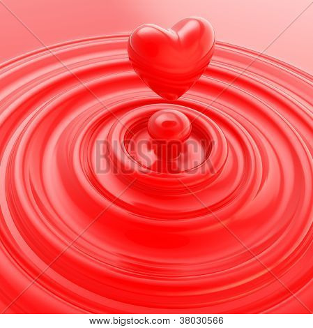 Heart Symbol Made Of Liquid Cream Or Soap