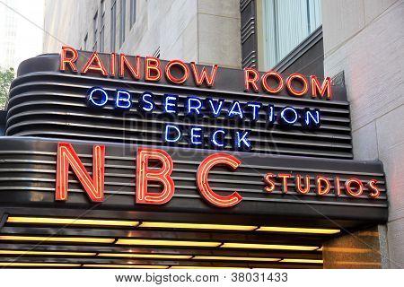 NBC Studios Sign