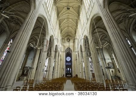 Gisors (normandy) - Interior Of Gothic Church
