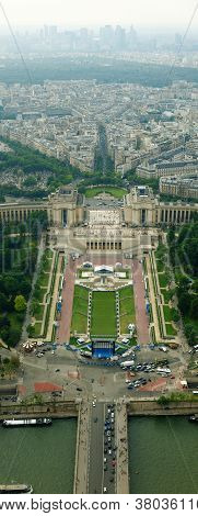 Beautiful Places Of Paris City - Jardins Du Trocadero