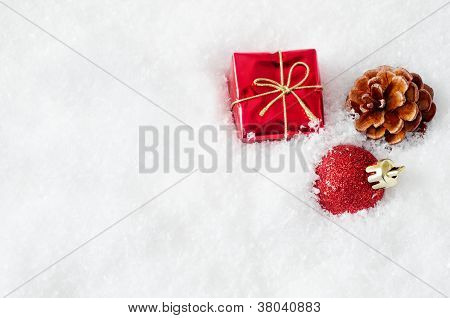 Christmas Decorations In Snow