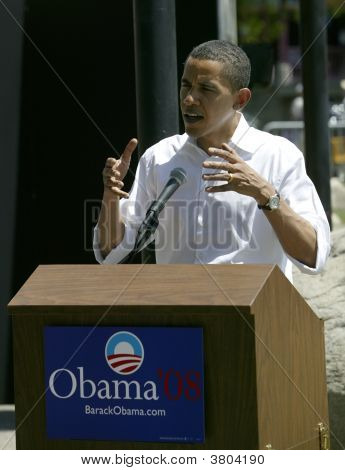 Barak Obama At A Press Conference