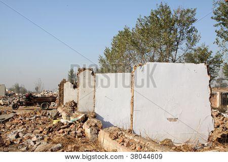 Demolition Of Smoldering Rubble