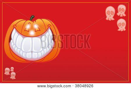 halloween fun pumpkin smiling card