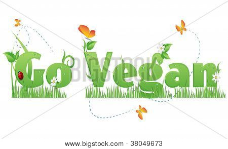Go Vegan Text