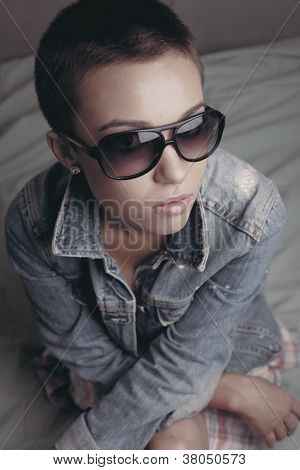 The Stylish Girl In Sunglasses