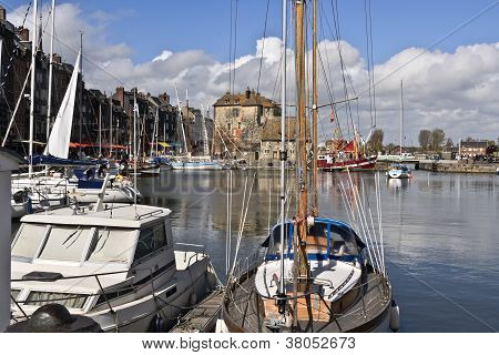 Honfleur, France Harbor