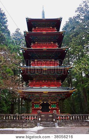 NIKKO, JAPAN - MARCH 24: Rinnoji Temple in Nikko, Japan on March 24, 2012. Rinnoji is Nikko's most i