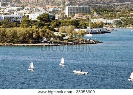 Agios Nikolaos city at Crete