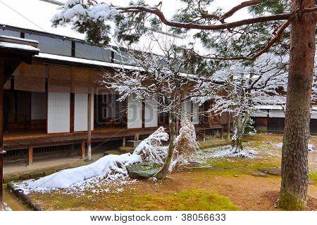 Jardim japonês em Takayama Jinya