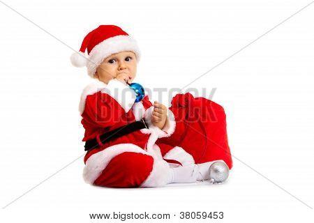 Small Santa Claus With Big Bag