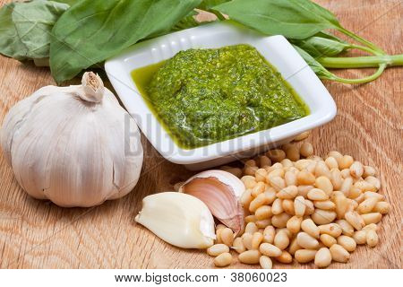 Italian Pesto Sauce With Ingredient